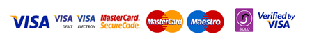 Payment providers - Visa, Mastercard, Maestro, Paypal, Solo